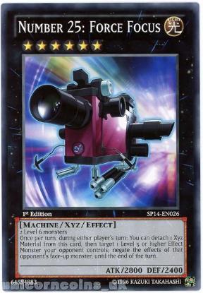 Picture of SP14-EN026 Number 25: Force Focus 1st Edition Mint YuGiOh Card