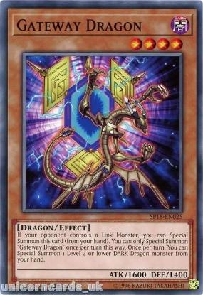 Picture of SP18-EN025 Gateway Dragon 1st Edition Mint YuGiOh Card