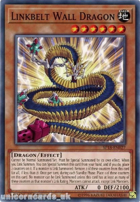Picture of SP18-EN027 Linkbelt Wall Dragon 1st Edition Mint YuGiOh Card