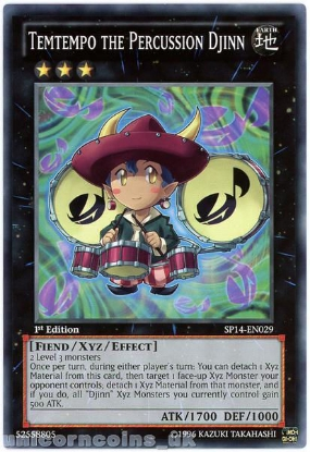 Picture of SP14-EN029 Temtempo the Percussion Djinn 1st Edition Mint YuGiOh Card