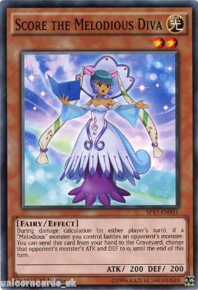 Picture of SP17-EN031 Score the Melodious Diva 1st Edition Mint YuGiOh Card