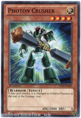 Picture of SP14-EN008 Photon Crusher 1st Edition Mint YuGiOh Card