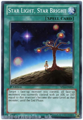 Picture of SP14-EN034 Star Light, Star Bright 1st Edition Mint YuGiOh Card