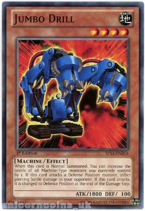 Picture of SP14-EN014 Jumbo Drill 1st Edition Mint YuGiOh Card