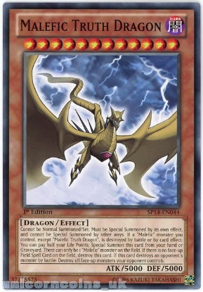 Picture of SP14-EN044 Malefic Truth Dragon 1st Edition Mint YuGiOh Card
