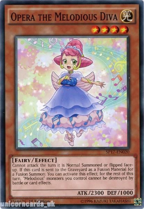 Picture of SP17-EN020 Opera the Melodious Diva 1st Edition Mint YuGiOh Card