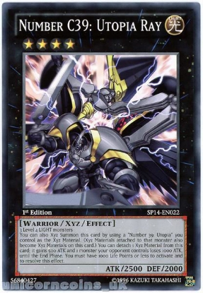 Picture of SP14-EN022 Number C39: Utopia Ray 1st Edition Mint YuGiOh Card