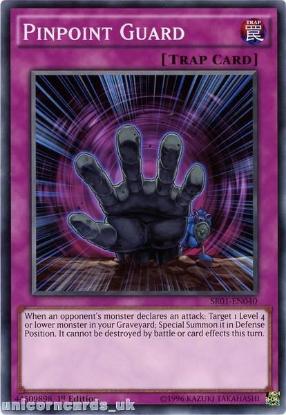 Picture of SR01-EN040 Pinpoint Guard 1st edition Mint YuGiOh Card