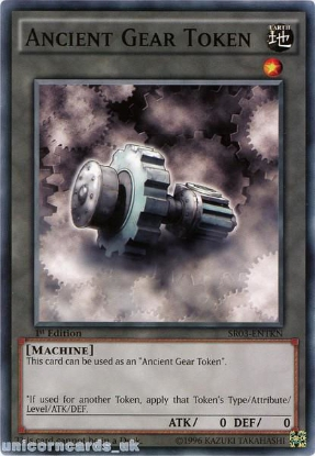 Picture of SR03-ENTKN Ancient Gear Token 1st Edition Mint YuGiOh Card