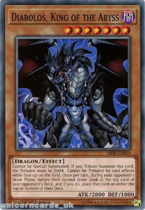 Picture of SR06-EN004 Diabolos, King of the Abyss 1st Edition Mint YuGiOh Card