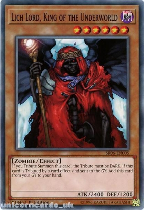 Picture of SR06-EN005 Lich Lord, King of the Underworld 1st Edition Mint YuGiOh Card