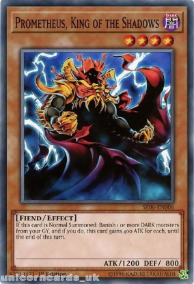Picture of SR06-EN006 Prometheus, King of the Shadows 1st Edition Mint YuGiOh Card