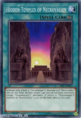 Picture of SS01-ENB13 Hidden Temples of Necrovalley 1st Edition Mint YuGiOh Card