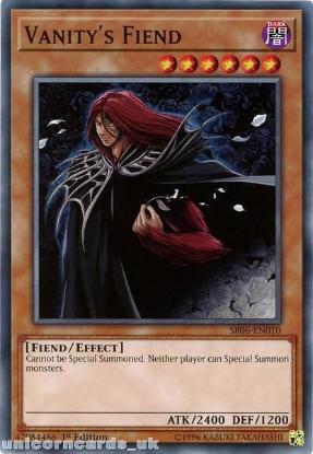Picture of SR06-EN010 Vanity's Fiend 1st Edition Mint YuGiOh Card