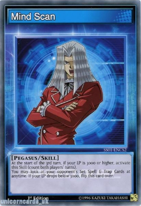 Picture of SS01-ENCS2 Mind Scan 1st Edition Mint YuGiOh Card