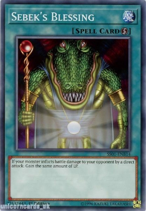 Picture of SS01-ENB14 Sebek's Blessing 1st Edition Mint YuGiOh Card