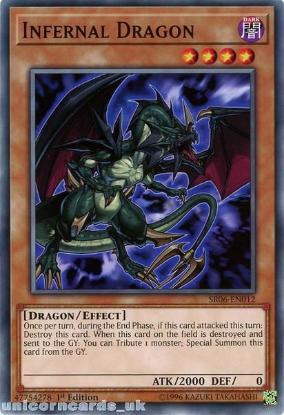 Picture of SR06-EN012 Infernal Dragon 1st Edition Mint YuGiOh Card
