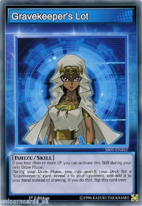 Picture of SS01-ENBS2 Gravekeeper's Lot 1st Edition Mint YuGiOh Card
