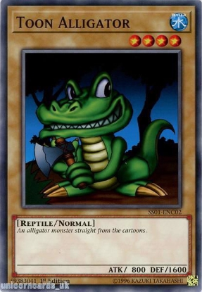 Picture of SS01-ENC02 Toon Alligator 1st Edition Mint YuGiOh Card