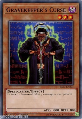 Picture of SS01-ENB01 Gravekeeper's Curse 1st Edition Mint YuGiOh Card