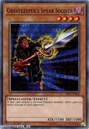 Picture of SS01-ENB02 Gravekeeper's Spear Soldier 1st Edition Mint YuGiOh Card