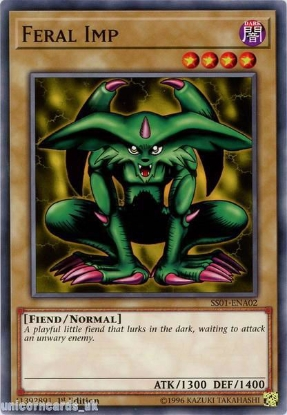 Picture of SS01-ENA02 Feral Imp 1st Edition Mint YuGiOh Card