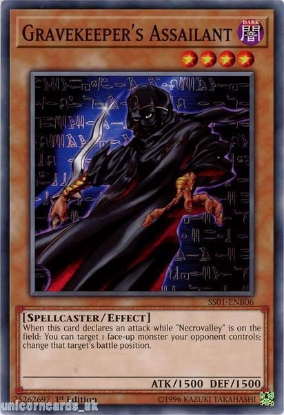 Picture of SS01-ENB06 Gravekeeper's Assailant 1st Edition Mint YuGiOh Card