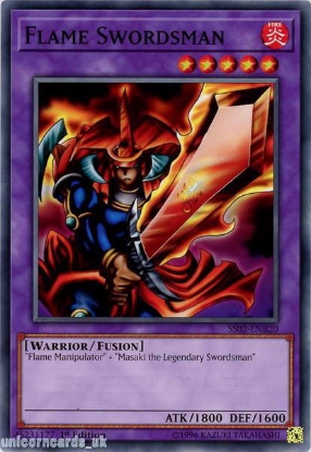 Picture of SS02-ENB20 Flame Swordsman 1st Edition Mint YuGiOh Card