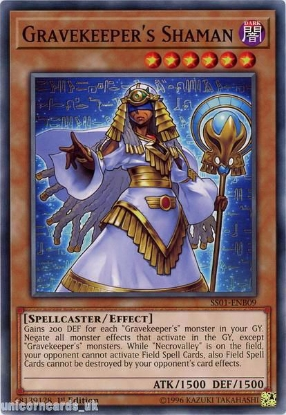 Picture of SS01-ENB09 Gravekeeper's Shaman 1st Edition Mint YuGiOh Card