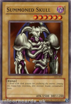 Picture of SYE-005 Summoned Skull Common UNL Edition Vintage Mint YuGiOh Card