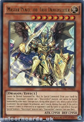 Picture of TDIL-EN020 Master Peace, the True Dracoslayer Ultra Rare UNL Edition Mint YuGiOh Card