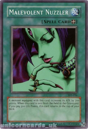 Picture of SYE-036 Malevolent Nuzzler Common UNL Edition Vintage Mint YuGiOh Card
