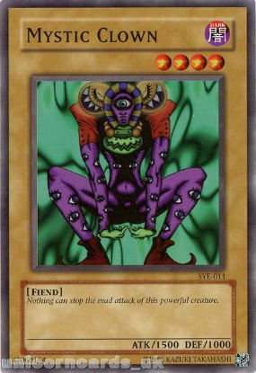 Picture of SYE-011 Mystic Clown Common UNL Edition Vintage Mint YuGiOh Card