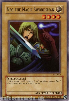 Picture of SYE-012 Neo the Magic Swordsman Common UNL Edition Vintage Mint YuGiOh Card