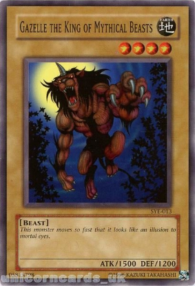 Picture of SYE-013 Gazelle the King of Mythical Beasts Common UNL Edition Vintage Mint YuGiOh Card