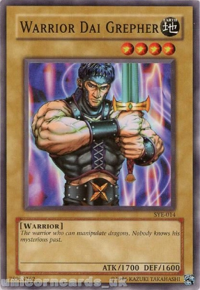 Picture of SYE-014 Warrior Dai Grepher Common UNL Edition Vintage Mint YuGiOh Card