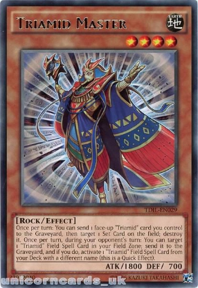 Picture of TDIL-EN029 Triamid Master Rare UNL Edition Mint YuGiOh Card