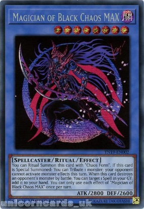 Picture of TN19-EN002 Magician of Black Chaos MAX Prismatic Secret Rare Limited Edition Mint YuGiOh Card