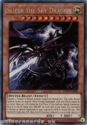 Picture of TN19-EN008 Slifer the Sky Dragon Prismatic Secret Rare Limited Edition Mint YuGiOh Card