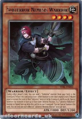 Picture of TDIL-EN082 Subterror Nemesis Warrior Rare UNL Edition Mint YuGiOh Card