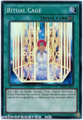 Picture of THSF-EN055 Ritual Cage Super Rare 1st Edition Mint YuGiOh Card