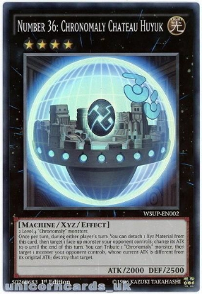 Picture of WSUP-EN002 Number 36: Chronomaly Chateau Huyuk Super Rare 1st Ed YuGiOh Card