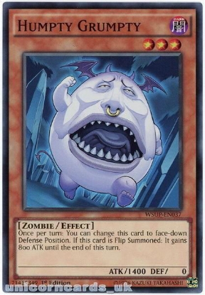 Picture of WSUP-EN037 Humpty Grumpty Super Rare 1st Edition Mint YuGiOh Card