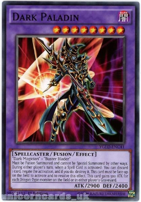 Picture of YGLD-ENC41 Dark Paladin 1st edition Mint YuGiOh Card