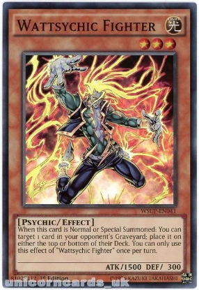 Picture of WSUP-EN041 Wattsychic Fighter Super Rare 1st Edition Mint YuGiOh Card