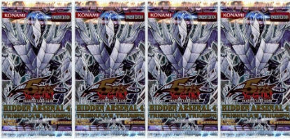 Picture of YuGiOh! Hidden Arsenal 4 New And Sealed Booster Packs x4