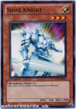 Picture of YS11-EN011 Shine Knight 1st Edition Mint YuGiOh Card