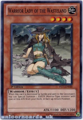 Picture of YS11-EN020 Warrior Lady of the Wasteland 1st Edition Mint YuGiOh Card