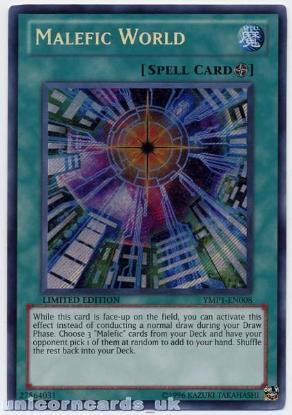 Picture of YMP1-EN008 Malefic World Secret Rare Mint Yu-Gi-Oh! Card