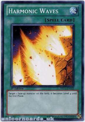 Picture of YS11-EN022 Harmonic Waves 1st Edition Mint YuGiOh Card
